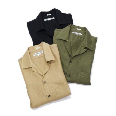 """画像1: INDIVIDUALIZED SHIRTS(インディビジュアライズドシャツ)/Camp Collar Short Sleeve Shirt(キャンプカラーショートスリーブシャツ)""""Linen"""""""
