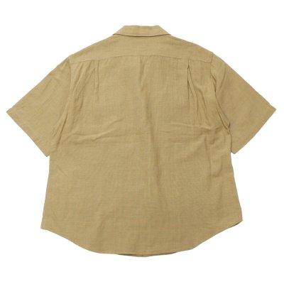 画像2: KAPTAIN SUNSHINE(キャプテンサンシャイン)Open Collar SS Shirt(オープンカラーショートスリーブシャツ)COTTON LINEN SILK SAFARI MESH/Khaki(カーキ)