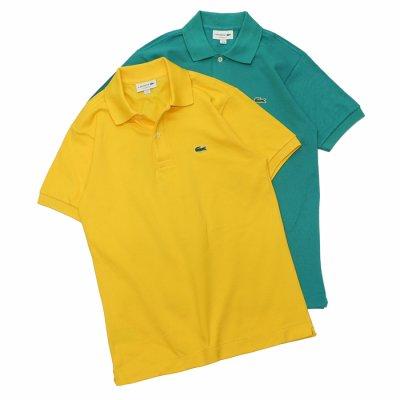 画像1: LACOSTE(ラコステ)Classic Fit Pique Polo Shirt(クラシックフィットピケポロシャツ)/Wasp(イエロー)・Bailloux(ブルーグリーン)※Imported from France