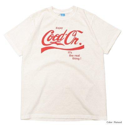 """画像2: Good On(グッドオン)Logo Print Short Sleeve Crew Neck Tee(ロゴプリントショートスリーブクルーネックTシャツ)""""ENJOY GO""""/Natural(ナチュラル)・Black(ブラック)"""