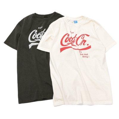 """画像1: Good On(グッドオン)Logo Print Short Sleeve Crew Neck Tee(ロゴプリントショートスリーブクルーネックTシャツ)""""ENJOY GO""""/Natural(ナチュラル)・Black(ブラック)"""