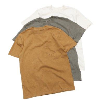 画像1: Good On(グッドオン)Organic Short Sleeve Pocket Tee(オーガニックショートスリーブポケットTシャツ)/Natural(ナチュラル)・Brown(ブラウン)・Green(グリーン)