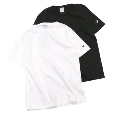 画像1: Champion(チャンピオン)T1011 US T-Shirt(ティーテンイレブンUSショートスリーブTシャツ)/White(ホワイト)・Black(ブラック)Made in USA