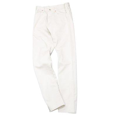 画像1: F.O.B FACTORY(エフオービーファクトリー)PIQUE 5POCKET PANTS(ピケ5ポケットパンツ)Highcount Pique/Ivory(アイボリー)【裾上げ無料】