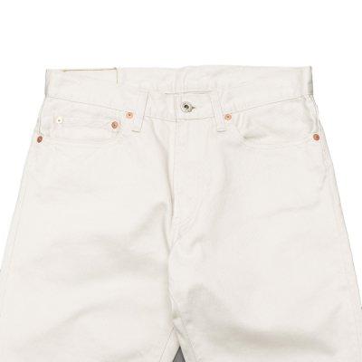 画像2: F.O.B FACTORY(エフオービーファクトリー)PIQUE 5POCKET PANTS(ピケ5ポケットパンツ)Highcount Pique/Ivory(アイボリー)【裾上げ無料】