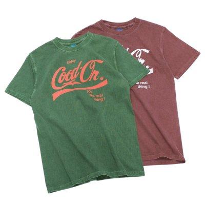 """画像1: Good On(グッドオン)Logo Print Short Sleeve Crew Neck Tee(ロゴプリントショートスリーブクルーネックTシャツ)""""ENJOY GO""""/Dk.Green(ダークグリーン)・Berry(ベリー)"""