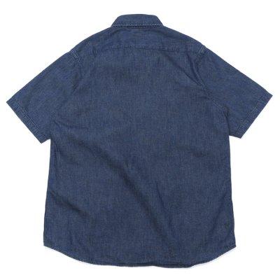 画像2: F.O.B FACTORY(エフオービーファクトリー)DENIM FATIGUE SHORT SLEEVE SHIRT(デニムファティーグショートスリーブシャツ)8oz Military Denim/Blue(ブルー)