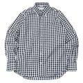 """INDIVIDUALIZED SHIRTS(インディビジュアライズドシャツ)Standard Fit Long Sleeve B.D.Shirt(スタンダードフィットロングスリーブボタンダウンシャツ)""""Big Gingham Check""""/Black(ブラック)"""