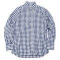 "INDIVIDUALIZED SHIRTS(インディビジュアライズドシャツ)Standard Fit Long Sleeve B.D.Shirt(スタンダードフィットロングスリーブボタンダウンシャツ)""Big Gingham Check""/Navy(ネイビー)"