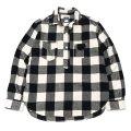 Post O'Alls(ポストオーバーオールズ)De Luxe(デラックス)cotton flannel block check/Black×White(ブラック×ホワイト)