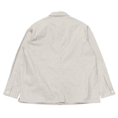 画像2: A VONTADE(アボンタージ)PW Shirt Jacket(PWシャツジャケット)Buff End on end Peachskin finish/Lt.Grey(ライトグレー)