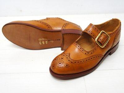 画像2: Tricker's(トリッカーズ)Mary Jane Brogue Shoes(メリージェーン ブローグシューズ)レザーソール/1001 Burnished(1001バーニッシュド)