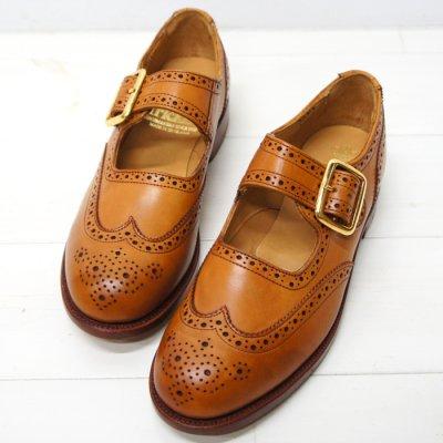 画像1: Tricker's(トリッカーズ)Mary Jane Brogue Shoes(メリージェーン ブローグシューズ)レザーソール/1001 Burnished(1001バーニッシュド)