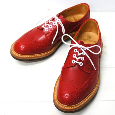 画像1: Tricker's(トリッカーズ)カントリー ブローグシューズ(Bourton)コマンドソール/Red Calf(レッドカーフ)