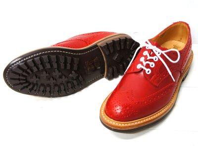 画像2: Tricker's(トリッカーズ)カントリー ブローグシューズ(Bourton)コマンドソール/Red Calf(レッドカーフ)