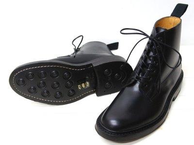 画像2: Tricker's(トリッカーズ)プレーントゥ ブーツ(Burford)ダイナイトソール/Black Box Calf(ブラックボックスカーフ)