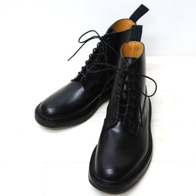 画像1: Tricker's(トリッカーズ)プレーントゥ ブーツ(Burford)ダイナイトソール/Black Box Calf(ブラックボックスカーフ)