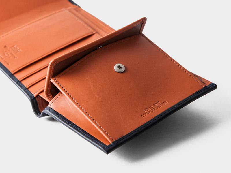 new product 621e4 4e8cc Whitehouse Cox(ホワイトハウスコックス)S1058 Small 3Fold  Wallet(ミニ3つ折りウォレット)/Navy×Tan(ネイビー×タン)