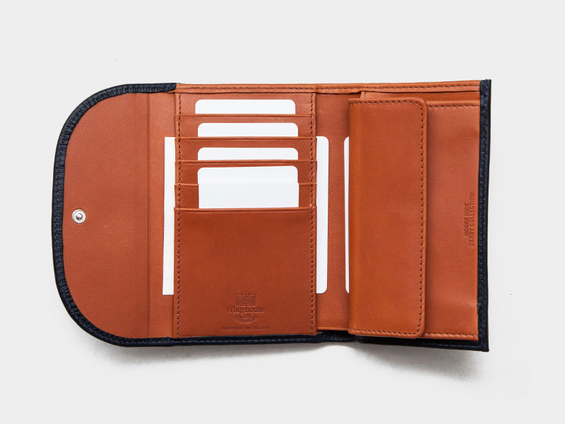 843be885d765 Whitehouse Cox(ホワイトハウスコックス)S7660 3Fold Wallet(3つ折りウォレット)/Navy×Tan(ネイビー×タン)  [29-Derby Collection]