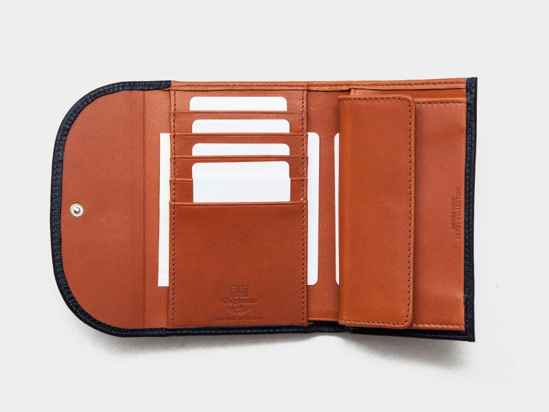 9b915a589aba Whitehouse Cox(ホワイトハウスコックス)S7660 3Fold Wallet(3つ折りウォレット)/Navy×Tan(ネイビー×タン)  [29-Derby Collection]