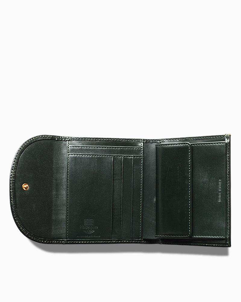 new arrival 680f0 6fdb1 Whitehouse Cox(ホワイトハウスコックス)S1058 Small 3Fold Wallet(ミニ3つ折りウォレット)/Green(グリーン)