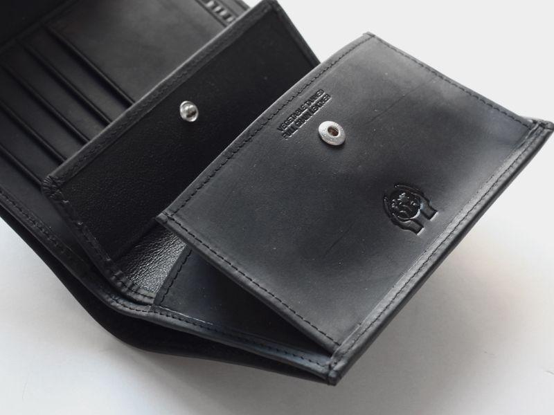 settler セトラー ow1112 3fold purse 3つ折りウォレット black