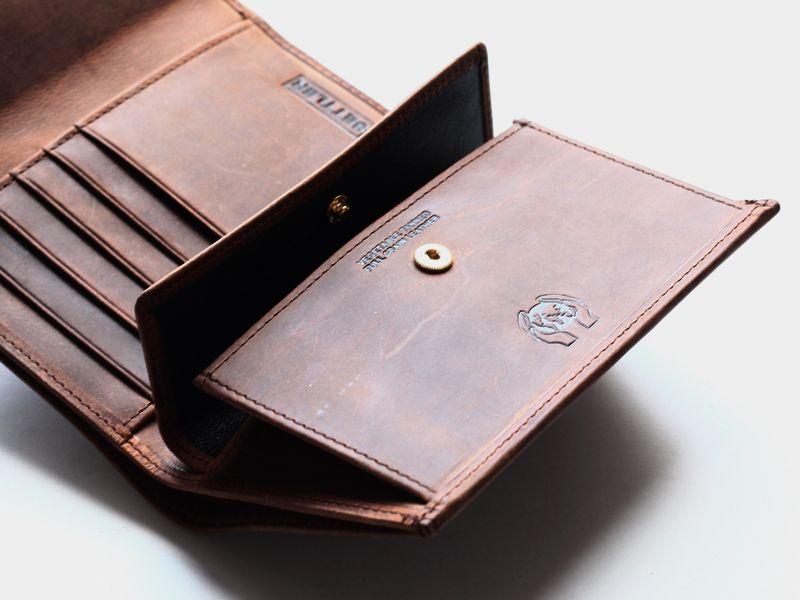 settler セトラー ow1112 3fold purse 3つ折りウォレット brown